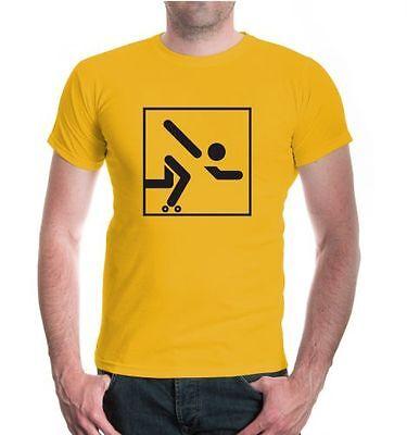 Herren Unisex Kurzarm T-Shirt Roller Skating-Piktogramm Rollschuhe skates