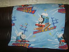 NEW HANDMADE KIDS THOMAS THE TANK COTTON FLEECE BACKED BED / SOFA / CHAIR THROW