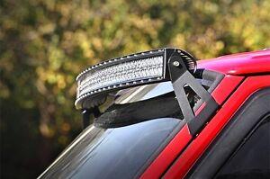Jeep cherokee xj 50 curved dual row led windshield mount light bar image is loading jeep cherokee xj 50 034 curved dual row aloadofball Image collections