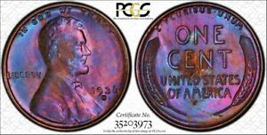 1938-S-1C-PCGS-MS63BN-Monster-Toned-Lincoln-TrueView-RicksCafeAmerican-com