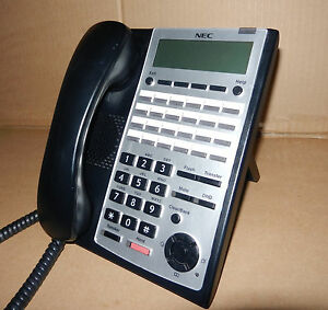 Details about NEC IP4WW-24TXH-B-TEL Black and Silver Handset
