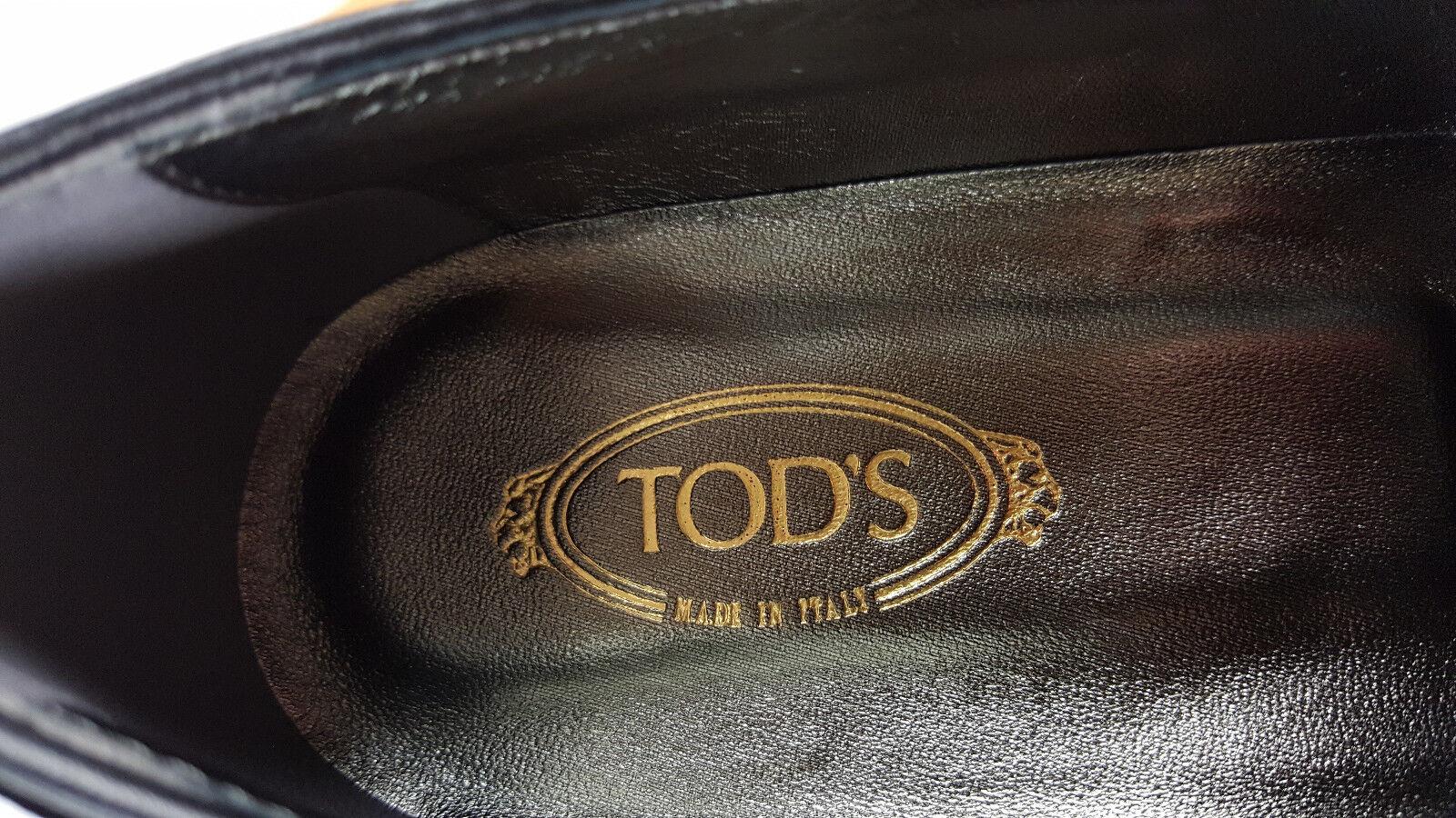Entièrement Entièrement Entièrement neuf dans sa boîte TOD'S femme velours noir matelassé double T Bar Mocassins (UK 5.5) dbfdd4