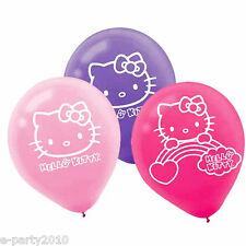 HELLO KITTY Rainbow LATEX BALLOONS (6) ~ Birthday Party Supplies Decorations