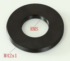 Adapter RMS Microscope objective to male M42 X1 adapter Flat without flange