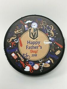VEGAS GOLDEN KNIGHTS HAPPY FATHER'S DAY Puck 2018 T-MOBILE EXCLUSIVE
