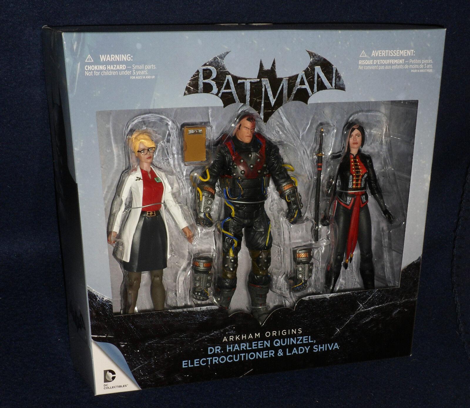 - batman  arkham ursprünge dr. quinzel, electrocutioner, lady - abbildung 3 pk