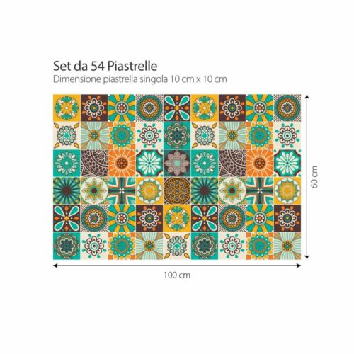 PS00181 Adesivi murali in pvc per piastrelle per bagno e cucina Stickers design