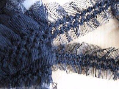 Tüllborte - elastisch - 30 mm - schwarz
