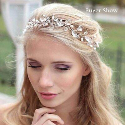 1 Haarnadel mit 11 Perlen Fecher Hochzeit Tiara Diadem ROT Braut Haarschmuck NEU