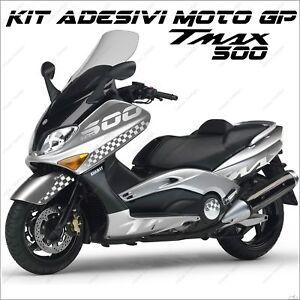 Amical AdhÉsifs Sport CarÉnage Graphique Compatible Yamaha Tmax T Max 500 01/07 Argent