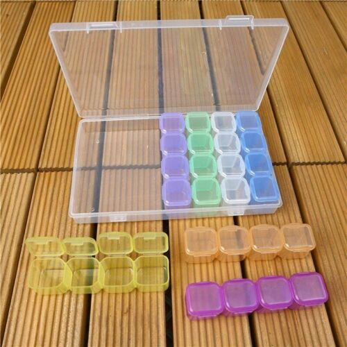 Diamond Painting Organizer 28 Grid Plastic Storage Box Tool Case Accessories