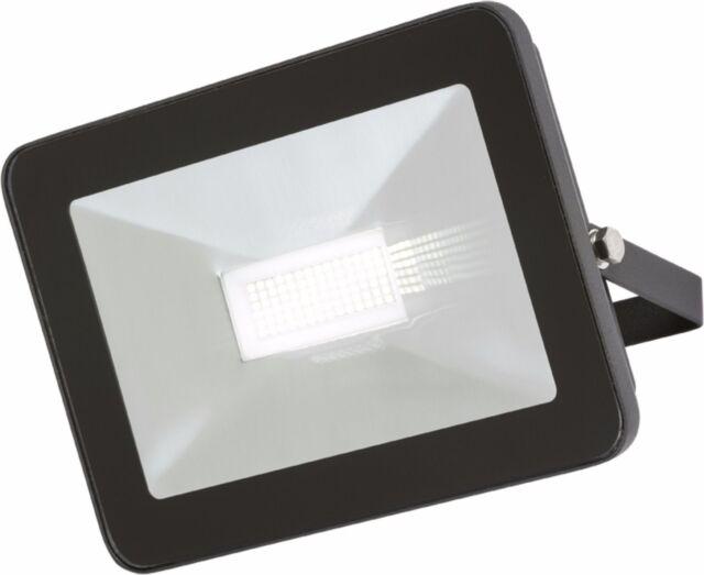 Knightsbridge LED 50W IP65 Black Die-Cast Aluminium Slimline Security Floodlight