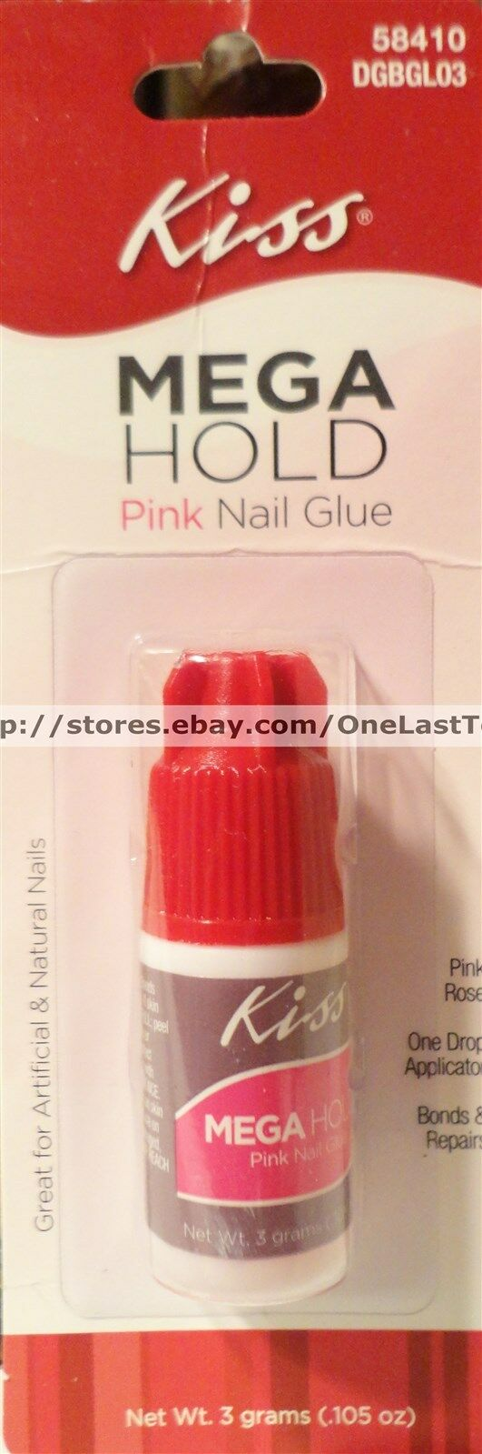 Kiss Mega Hold Pink Nail Glue Great for Artificial & Natural Nails 58410