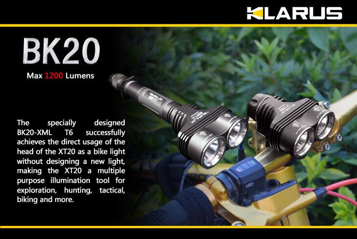 Klarus BK20 1200 Lumens Rechargeable LED Bike Light
