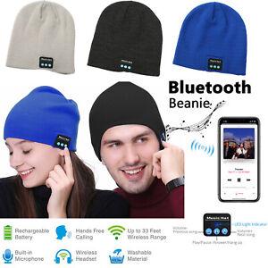 Beanie Hat Wireless Bluetooth 5.0 Smart Cap Headphone Headset With 4 LED Lights