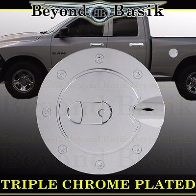 For Dodge Ram 2500//3500 Fits 2010 11 12 13 14 15 16 17 18 Chrome Gas Door Cover