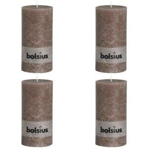 Bolsius Stumpenkerze Rustikal Weiß Kerze Dekokerze Blockkerze mehrere Auswahl