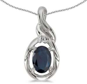 10k-White-Gold-Oval-Sapphire-amp-Diamond-Pendant-Chain-NOT-included-P1241W-09