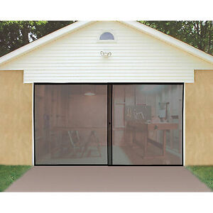 Single garage door screen 8ft x 7ft ebay for 14 ft wide garage door