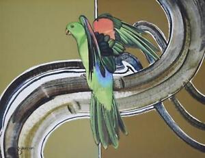 Nice-oil-on-Board-by-Gary-Duncan-Australia-Parrot-34cm-x-44cm