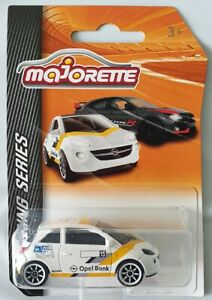 Majorette-Opel-Adam-White-diecast-model-car-Racing-Limited-Toy