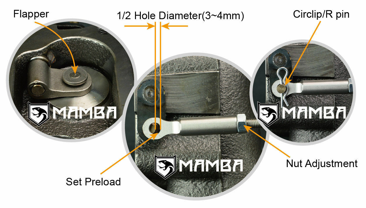 MAMBA Adjustable Turbo Wastegate Actuator For SUBARU IHI RHF55 VF30 VF35 VF41
