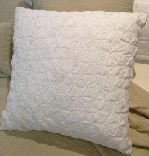 Hamptons white smocked huge sofa couch pillow euro bed for Sofa 500 euro