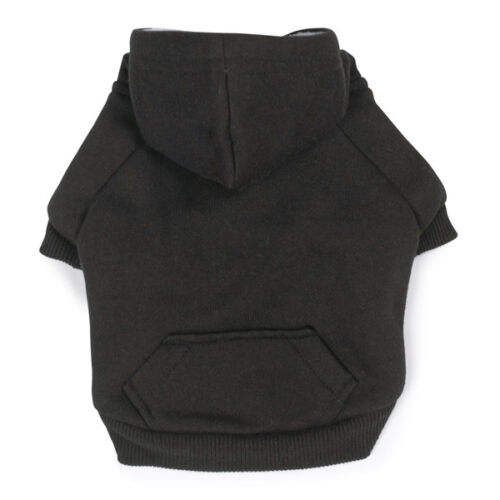 Fleece Lined Dog Hoodies Warm Thick Cotton Pocket Choose From 4 Colors /& Size