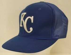 72e95dbb Details about Kansas City KC Royals Snapback Hat Mesh Baseball MLB Trucker  Dad Blue Home Team