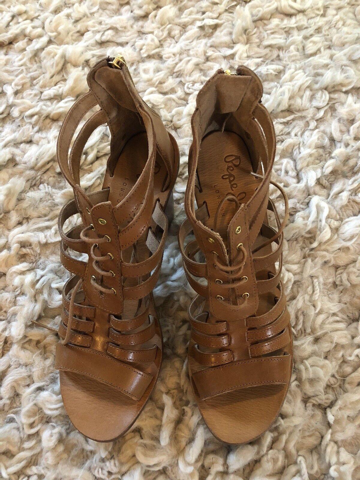 PEPE JEANS Chaussures à Talon Sandales UK 7