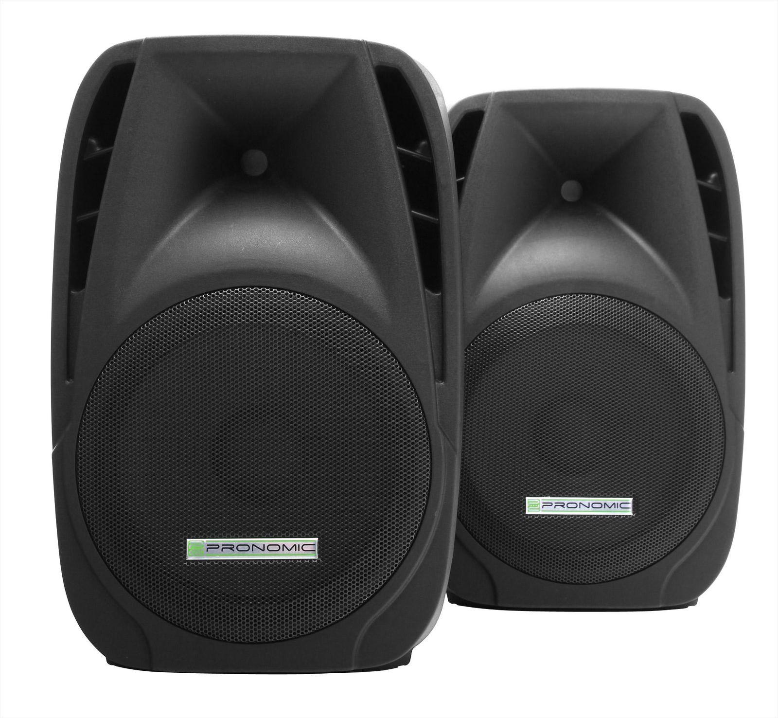 Pair Mobile DJ PA Speaker Passive Set 12'' (30cm) DJ Stage Party Monitor 600W