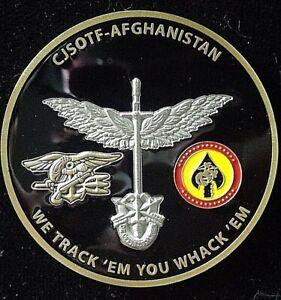 Details about Rare CJSOTF- Afghanistan We Track 'Em You Whack 'Em SOCOM  JSOC Challenge Coin