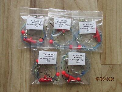10x Running ledger fishing pennel rigs 3//0 baitholder good for cod bass etc
