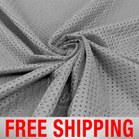 Football Basketball Jersey Mesh Fabric Sports Charcoal 60 Wide. Free Shipping