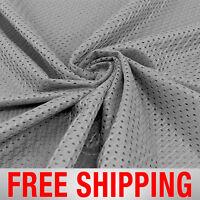 Football Basketball Jersey Mesh Fabric Sports Charcoal 60 Wide. Free Shipping