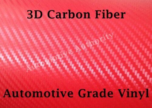 Pro Grade w// AIR RELEASE RED CARBON FIBER Vinyl Wrap Film Choose Your Size