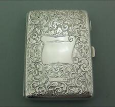 ANTIQUE VICTORIAN STERLING SILVER CARD CASE AIDE MEMOIRE