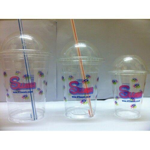 +1000 Dome lids 198ml 7OZ Printed PET x 1000 plastic cups, Slush cups