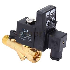 220V AC Automatic Electronic Timed Air Compressed Drain Valve 1/2""