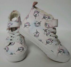 H\u0026M Unicorn girls Shoes high tops Size