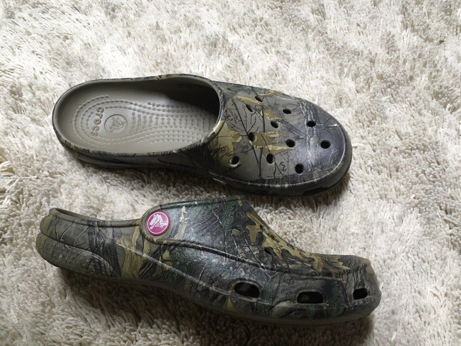 Crocs True Timber Clogs Women's Sz 6 Camo Slip On Comfort Shoes