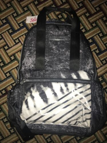Details about  /BRAND NEW WITH TAGS Justice Black /& White Tie Dye Stripe Backpack