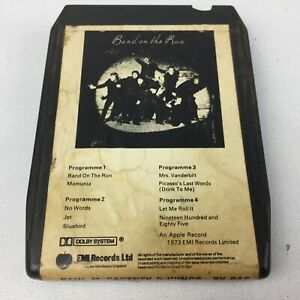 Band-On-The-Run-Wings-Track-8-Track-Tape-Cartridge-Eight-Paul-McCartney-EMI