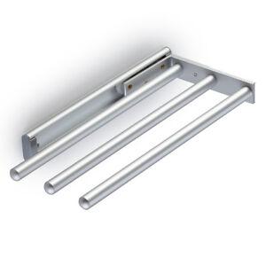 Handtuchhalter Küche | Handtuchhalter Ausziehbar Chrom Matt 3 Arme 32 5cm Auch Seitliche
