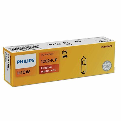PHILIPS Halogen Vision H10W Rear Position//Parking Light Bulb 12024CP BA9s Single