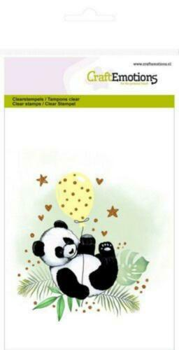 Clear Stamps aus Silikon Craftemotions Stempel Urwald-Tiere Faultier Panda