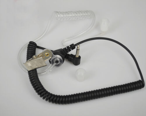Listen Receive Only Earpiece Headset 3.5mm Jack Kenwood HYT Puxing Baofeng Radio