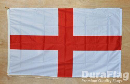 "ST GEORGE ENGLAND DURAFLAG hard wearing FLAG 18/"" X 12/"" 45cm x 30cm ENGLISH"