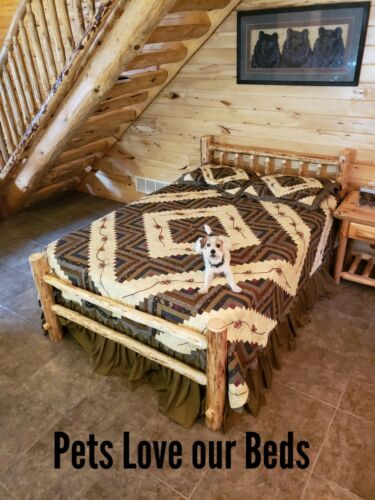 Rustic Log Bed Rustic Log Funiture Wilderness Series Saves space and money!