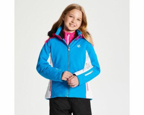 Blue Blue Dare2b Girls/' Vast Fur Trimmed Ski Jacket